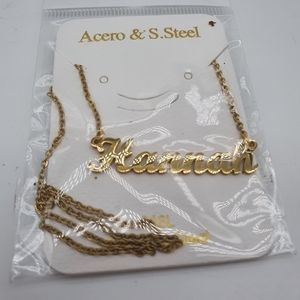 Jewelry - Hannah Name Nameplate Gold Necklace